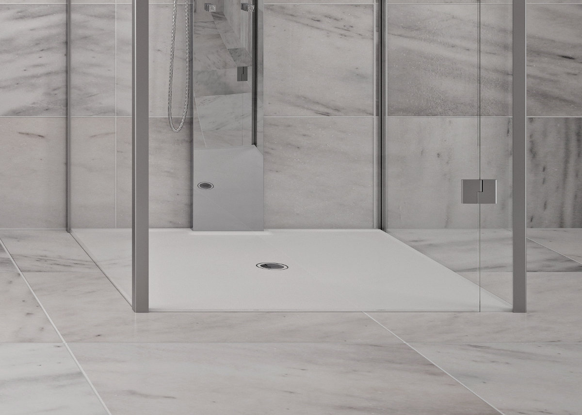 Eine fugenlose Dusche